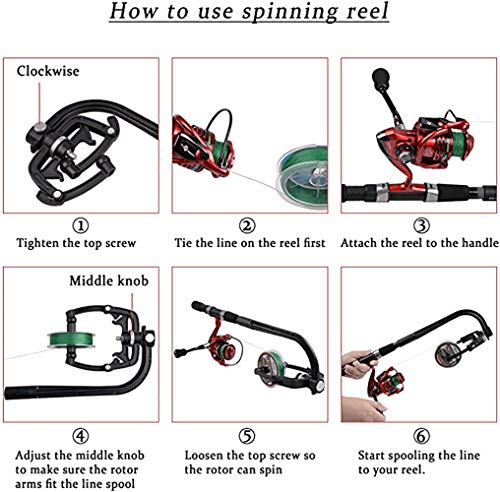 Rancer Fishing Line Spooler Winder Portable Machine Reel Spool Spooling Station System for Spinning Fishing Reel Line Spooler Fishing Tackle Tools Accessories …