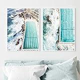 Blanriguelo Nordic Seaside Swimming Pool Wandkunst Gemälde