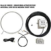 6SHINE MLA-30 - Antena de radio de onda corta (100 kHz, 30 MHz)
