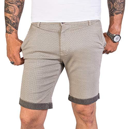 Rock Creek Designer Chino Shorts Herren Short Sommerhose Elegant Bermuda Kurz Herrenhose Anzugsshorts Herrenshorts Bermudas RC-2204 Beige W36