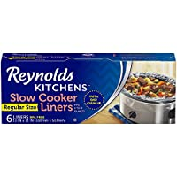SLOW COOKER LINERS—This package contains six Reynolds Kitchens Slow Cooker Liners, each measuring 13 x 21 inches to fit 3- to 8-quart round and oval slow cookers EASY CLEANUP—These strong, reliable slow cooker bags shorten your slow cooker cleanup to...