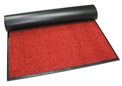 Trend Products Stuttgart Schmutzfangmatte, Fussmatte XXL - 90x350 cm, Farbe Rot, Teppichmatte, Roter Teppich, 45 Größen bis 25 m wählbar