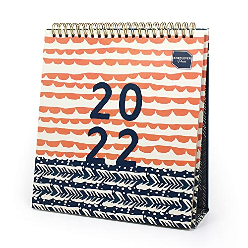 Boxclever Press Perfect Year Desk Calendar 2022. NEW FOR 2022! Freestanding 2022 Calendar runs Jan – Dec'22. Stunning 2022 Desk Calendar, Monthly Planner to Manage Busy Schedules – 22.5 x 20.5cm