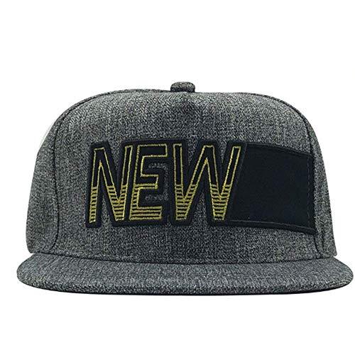 Sombrero de béisbol para estudiantes de ocio en la calle, deportes al aire libre, moda estilo hip-hop, letra bordada, casual, borde plano
