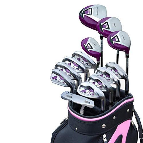 Decoración de muebles Juegos de palos de golf Putter de golf para damas Club de práctica de golf 13 PCS Juegos de golf livianos Palos de golf para mujeres Juegos de palos completos Barras de ejerci