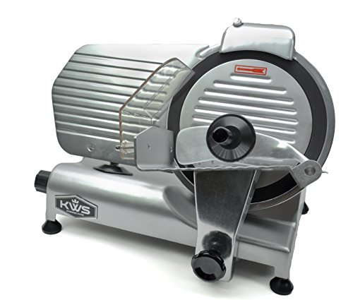 "KWS Commercial 320w Electric Meat Slicer 10"" Frozen Meat Deli Slicer Coffee Shop/restaurant and Home Use Low Noises (Teflon Blade - Black)"