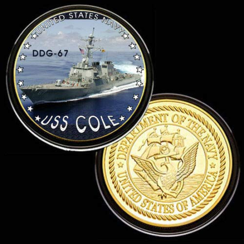 U.S. United States Navy | USS Cole DDG-67 | Gold Plated Challenge Coin