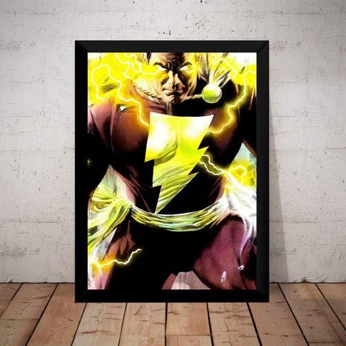 Quadro Capitão Marvel Shazam! Arte De Alex Ross