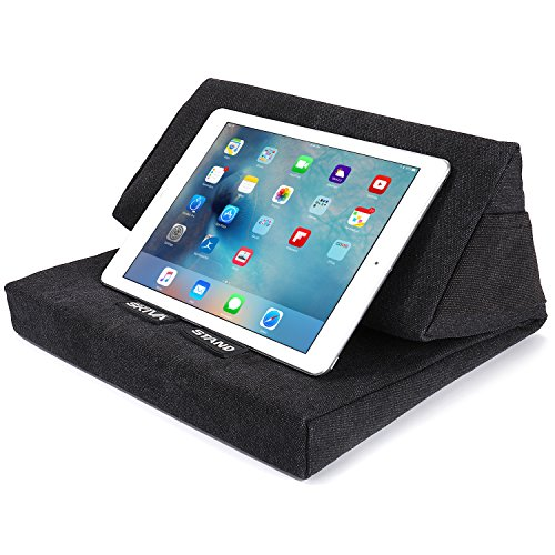 Skiva EasyStand Pad Pillow Stand for iPad Pro Air Mini, Samsung Galaxy Tab Note 10.1, Google Nexus 7, Microsoft Surface Pro, Tablets, E-Readers (Black) [Model:ES101] (Black)