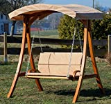 ASS Design Hollywoodschaukel Gartenschaukel Hollywood Schaukel aus Holz - 7