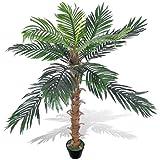 Festnight Kunstpflanze Zimmerpalme Künstliche Kokospalme mit Topf 140 cm