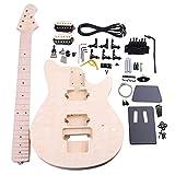 BQLZR madera de tilo Arce 6 cuerdas Guitarra eléctrica DIY Kit cuerpo Golpeador Humbucker Pickup puente guitarra clavijas botón de cuello para constructor Luthier