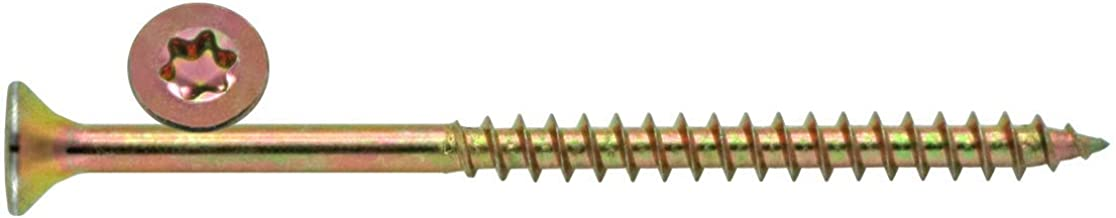 100 Schrauben 3 x 50 mm Teilgewinde 40 mm IROX Stahl verzinkt gelb Kreuzkopf Pozidriv PZD Flachgewinde Schraube f/ür Holz und Spanplatten 3 x 50 Spanplatten