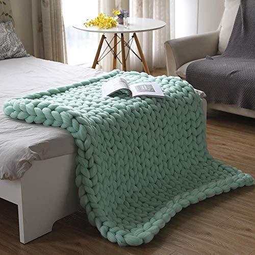 ZCXBHD Gebreide deken, grof, knuffeldeken, wollen deken, sprei, deken, huis, decoratief geschenk