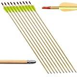 10 flecha flechas para tiro al blanco arco arcos de madera 20 60 27,5 libras por pulgada
