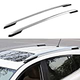 Autoxrun Silver Roof Side Rails Luggage Rack Replacement for 2014-2018 RAV4