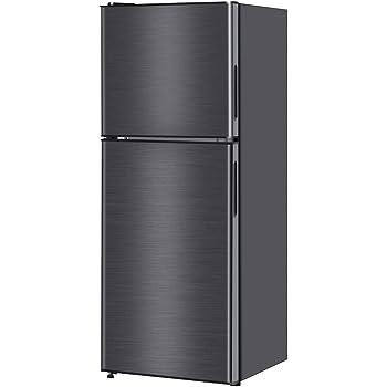 maxzen 冷蔵庫 138L 一人暮らし 2ドア マクスゼン コンパクト 小型 ガンメタリック JR138ML01GM