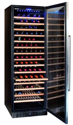 Sonnenkönig of Switzerland Cava 166 Mono Weinkühlschrank / 176.0 cm Höhe/ompakter Lagerschrank mit Aktivkohlefilter/Kompressor-System/silber/schwarz