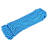 Alomejor - Cuerda de seguridad para exteriores, cuerda de escalada de alta resistencia, cuerda de seguridad de poliéster, hecha para pavimentación y escalada, camping, senderismo, azul claro