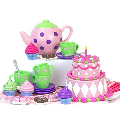 Sophia#039s 18quot Doll Tea Party Set for Dolls 25Piece