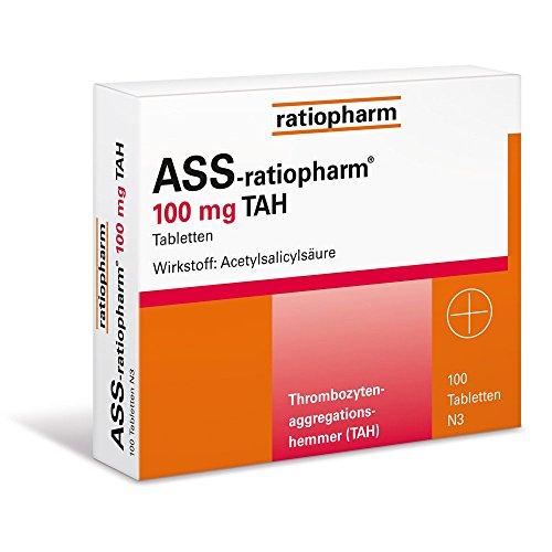 ASS-ratiopharm 100 mg TAH Tabletten, 100 St. Tabletten