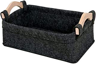 Panier de rangement en feutre avec poignée - Panier à linge - Boîte de rangement et poubelle pour chambre d'enfant, magazi...