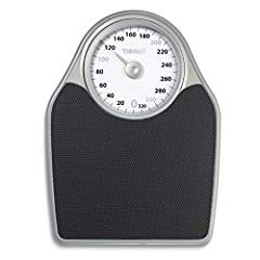 Analog Precision Scale: This traditional analog bathroom scale features an extra-large dial and 330 pound weight capacity with a comfort grip platform and an easy-to-read rotating dial Easy and Accurate: Whether you're looking to gain, lose, or maint...
