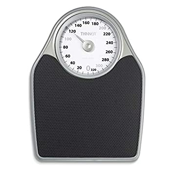 Thinner Extra-Large Dial Analog Precision Bathroom Scale Analog Bath Scale Measures Weight Up to 330 Lbs