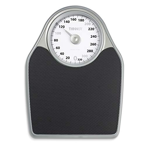 Thinner Extra-Large Dial Analog Precision Bathroom Scale, Analog Bath Scale, Measures Weight Up to 330 Lbs