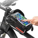 VOANZO Bolsa para Cuadro de Bicicleta Bolsa para Manillar de Bicicleta Paquete de Ciclismo con Tubo Delantero Impermeable para Bicicleta con Gran Capacidad, Tacto Sensible para iPhone de 7 Pulgadas