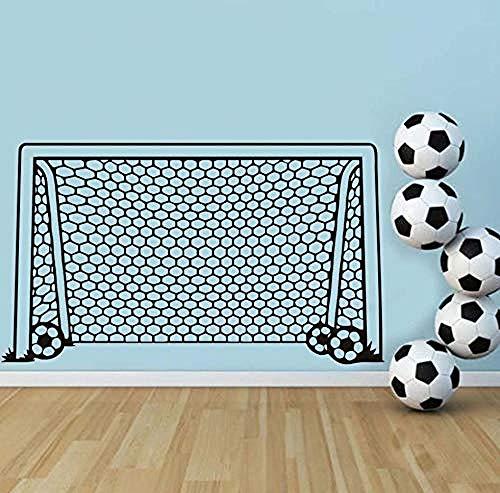 Wandaufkleber Fußball Fußballtor Net Ball Sport Wandtattoo Vinyl Decor Art Wandaufkleber Für Jungen Zimmer Kinder Kindergarten Wohnkultur Wandbild