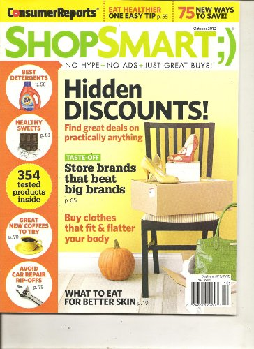 Consumer Reports Shop Smart Magazine (Hidden discounts! find great deals on practically everything, October 2010)