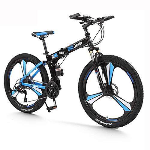 Sendero de montaña Bici Pro Bike Sistema plegable Montaña Bicicleta plegable de la ciudad de la bicicleta, bicicleta para hombre Mountain Bike 24 velocidades 26 pulgadas Bicicleta Snow Bike Pedales (C