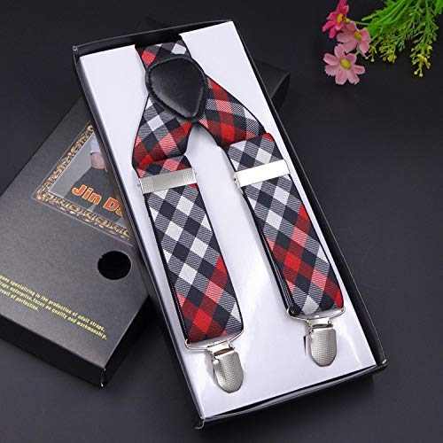 SUPOOGO 3 Clip Stretch mannen riem Unisex Sling 3,5 cm breed drie Clip afdrukken Jacquard elastische riem Clip