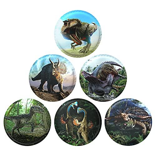 AISIR Pegatinas de Velco Set (6 piezas) Para Mochila para niños Mochilas Escolares -Serie de Dinosaurios