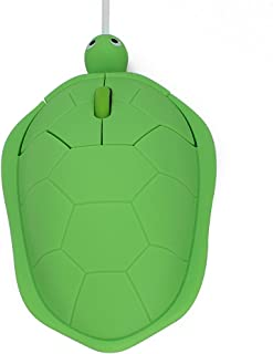 DIGIBLUSKY USB Wired Mouse Creative 3D Cute Animal Turtle Shaped Optical Mice Corded Kids Mini Mouse for PC Laptop Computer Green Green