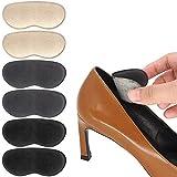 Beautulip Heel Grips Pads Adhesive Back of Heel Cushions High Heel Inserts Heel Protectors - Anti Slip Blister Comfortable Insole for Heels Pack of 6 (Beige+Gray+Black)