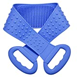 Vebiys Silicone Back Scrubber For Shower - Body Brush For Bathing - For Back Cleansing And Exfoliating, Back Massage, All Parts Of The Body To Remove Ash And Mud (Blue)
