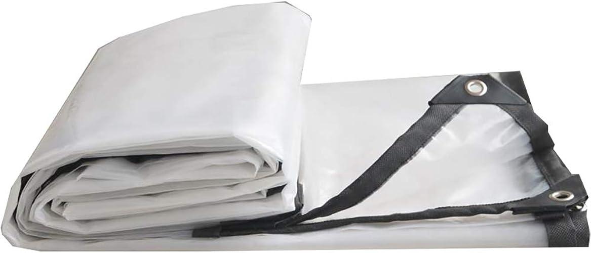 YH Bache Imperméable épaisse Transparente Imperméable à l'eau De Tissu en Plastique Toile De Pluie Toile De Pluie Bache De Pluie Bache Isolante Imperméable A++ (Taille   4×4m)