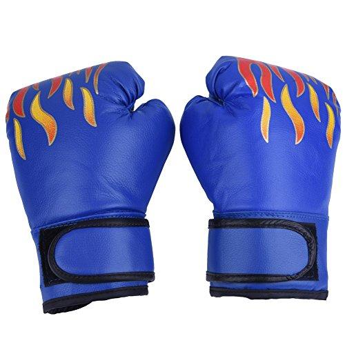 VGEBY Kinder Box PU Muay Thai Sparring Trainingshandschuh Kickbox f¨¹r 7-13 Jahre (Farbe : Blau)