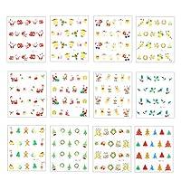 BESTOYARD クリスマスネイルステッカークリスマス3d粘着ネイルデカールマニキュアネイルアート指の爪足の爪装飾用女性女の子女性12枚
