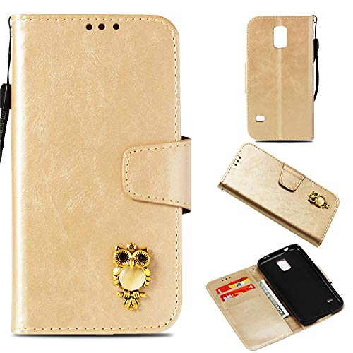 Luckyandery Galaxy S5 wallet case,Galaxy S5 Case holster, Book Cover Card&Cash Slots Kickstand Magnetic Closure Samsung Galaxy S5