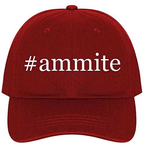 #Ammite - A Nice Comfortable Adjustable Hashtag Dad Hat Cap, Red, One Size