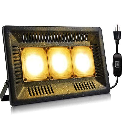 Khaco 150W à prova d'água Led Grow Light, Full Spectrum Grow Lights Outdoor, Grow Light sem ruído, Dissipação de Calor para Plantas Externas Internas Mudas, Crescendo, Florescendo e Frutificando (EU Plug)