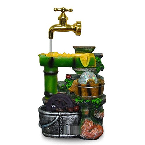 Hlluya Professional Sink Mixer Tap Kitchen Faucet Bamboo Products Flowing Water Fountain Floating Faucet Feng Shui Round Decorations