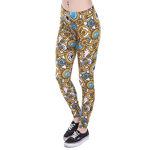 Dames yogabroek merk mode legging vrouwen Steam Chic punk druk leggings hoge taille vrouwen joggingbroek