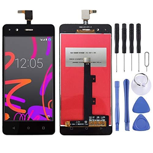 XCVBN Pantalla LCD de Repuesto y digitalizador Asamblea Completa de BQ Aquaris M4.5 (Negro) Cartucho de reparación de la Pantalla + Kit Completo de Herramientas (Color : Black)