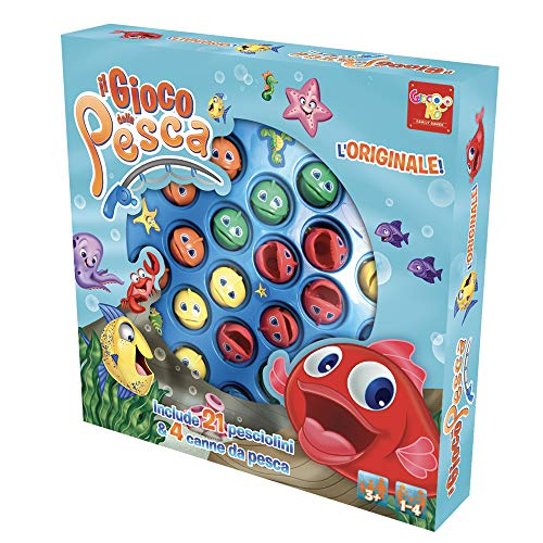 Rocco Giocattoli-il Gioco della Pesca, Colore Blu, 30816006
