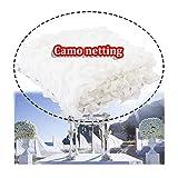 Red de camuflaje blanco de 2 x 3 m, malla de camuflaje para caza de camuflaje, camping, militar, refugio para tienda de campaña, color blanco, tamaño 3x10m/10x32ft