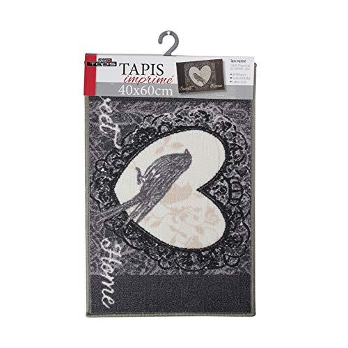 douceur d'intérieur tapis rectangle 40x60 cm love birds